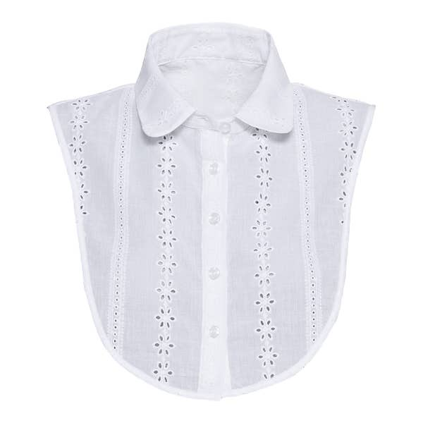Damen-Blusenkragen mit Lochstickerei