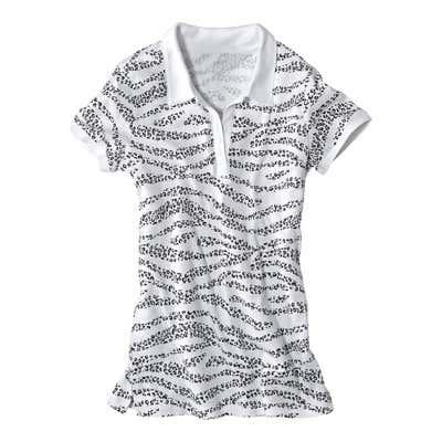 Damen-Poloshirt mit Tigerstreifen