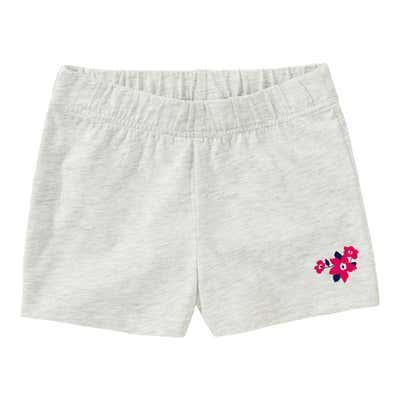 Mädchen-Shorts in Melange-Optik