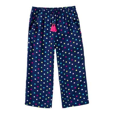 Mädchen-Viskosehose mit Punkte-Muster
