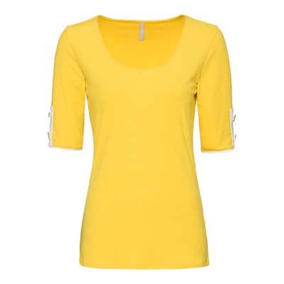 Damen-T-Shirt mit Ripp-Muster