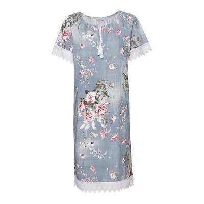 Damen-Kleid mit Spitzenrändern