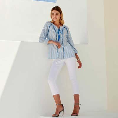 Damen-Capri-Jeggings im 5-Pocket-Look