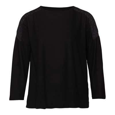 Damen-Sweatshirt mit schicker Spitze, große Größen