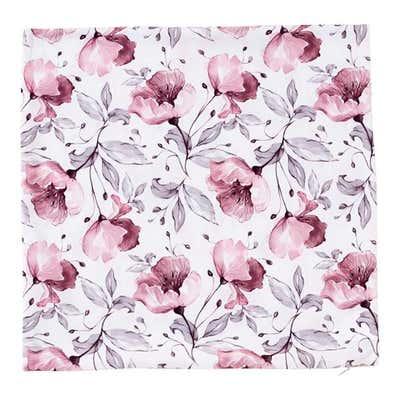 Kissenhülle mit floralem Muster, ca. 40x40cm