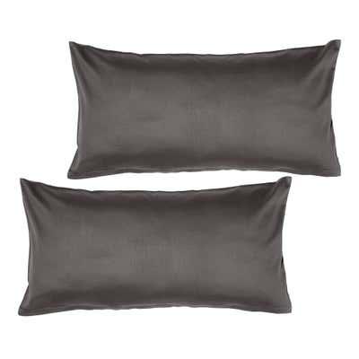 Satin-Kissenbezug aus reiner Baumwolle, ca. 40x80, 2er Pack
