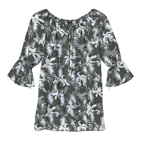 Damen-Tunika mit schönem Natur-Muster