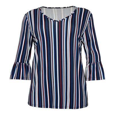 Damen-Shirt mit schickem Streifenmuster, große Größen