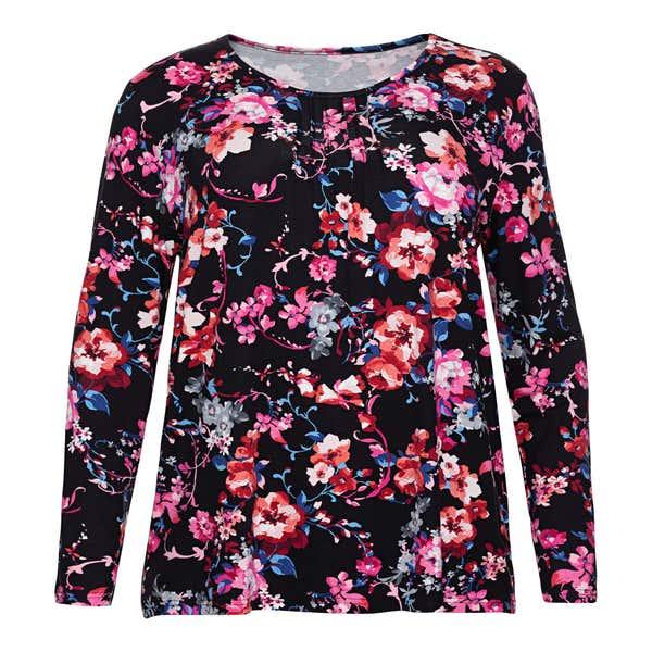 Damen-Shirt mit Blumenmuster, große Größen