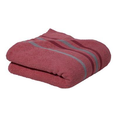Handtuch mit bunter Bordüre, ca. 50x90cm
