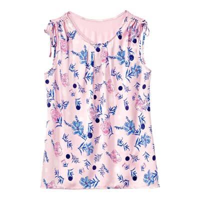 Damen-T-Shirt mit geraffter Schulterpartie