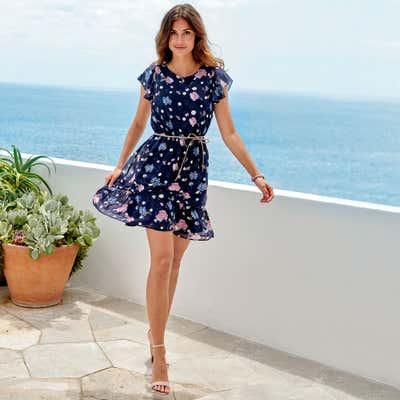 Damen-Kleid mit wunderschönem Rüschenvolant