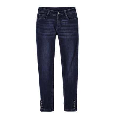 Damen-Jeans mit Zierknöpfen