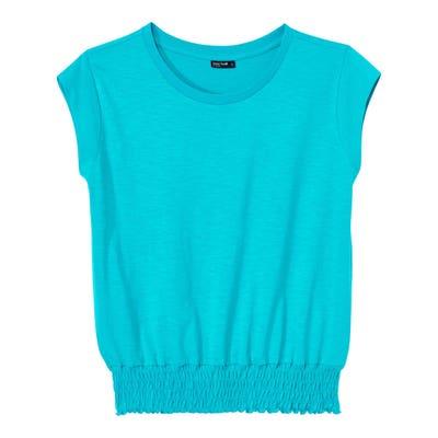 Damen-T-Shirt  mit trendigen Smok-Nähten