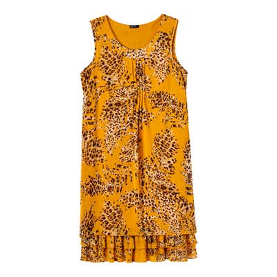 Damen-Kleid mit hübschem Rüschenabschluss