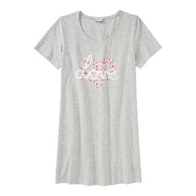 Damen-Nachthemd mit schickem Frontaufdruck