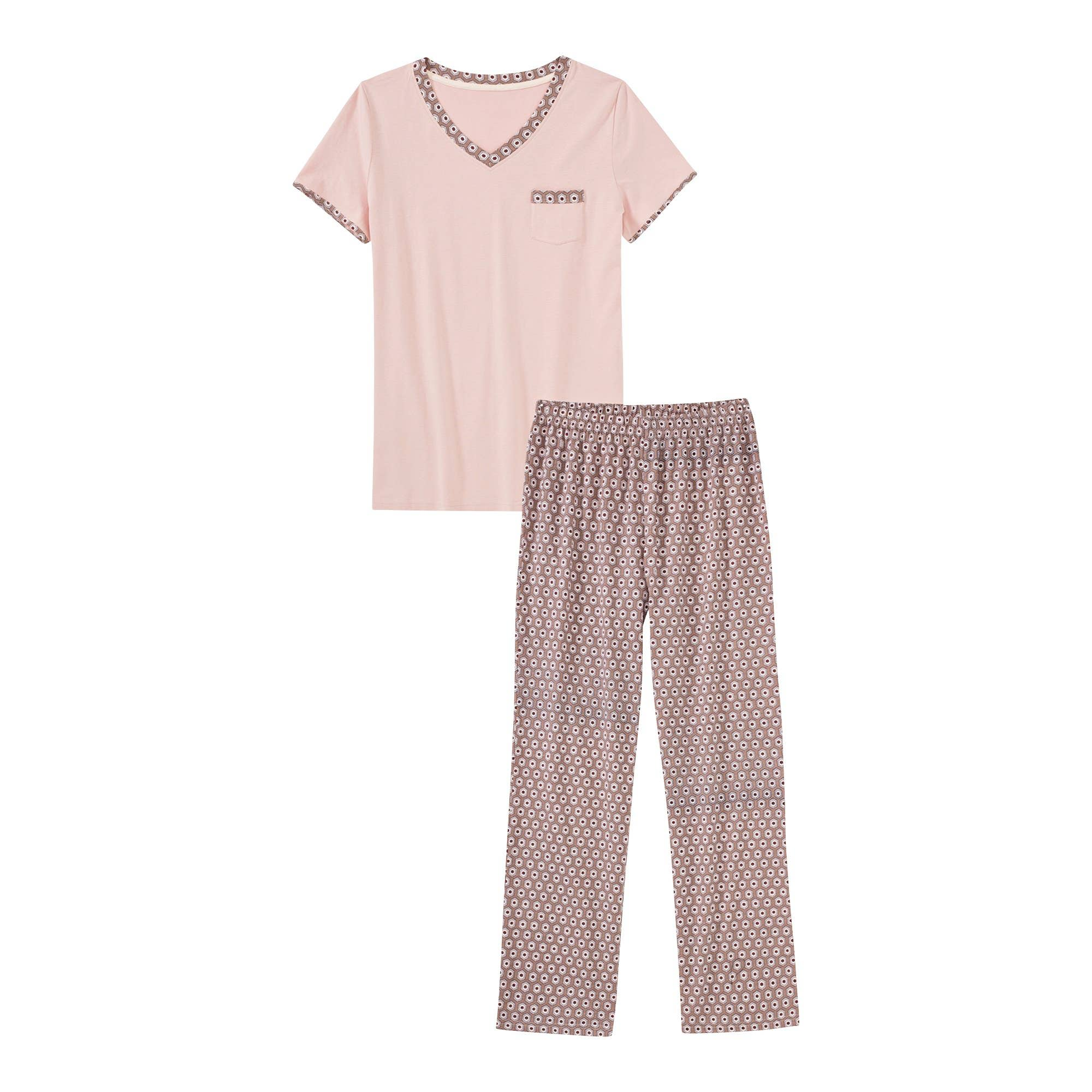 Pyjama 34 Schlafanzug für Damen 40 M Gr L 48 44 42 XL 38 46 36 S