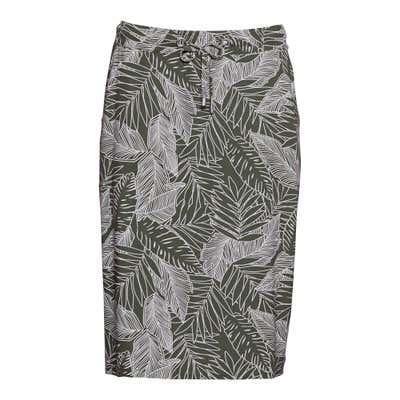 Damen-Rock mit Palmblatt-Muster