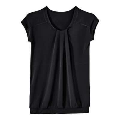 Damen-T-Shirt mit komfortablem Materialmix