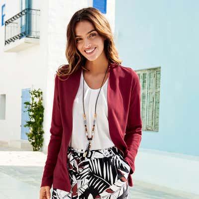 Damen-Jerseyjacke in verschiedenen Farben