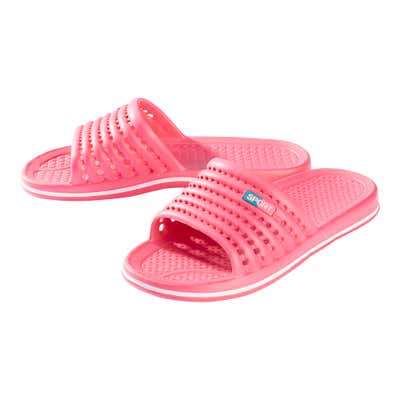 Damen-Badeschlappen mit Kontrast-Streifen