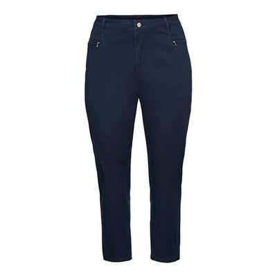 Damen-Stoffhose mit 2 Reißverschluss-Taschen, große Größen