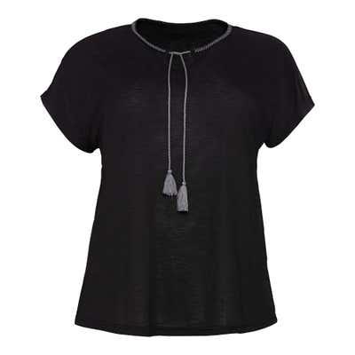 Damen-T-Shirt mit hübschen Bindebändern, große Größen
