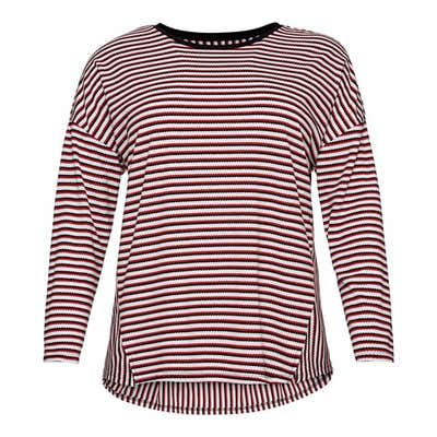 Damen-Shirt mit Ringelmsuter, große Größen