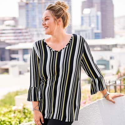 Damen-Shirt mit schicken Streifen