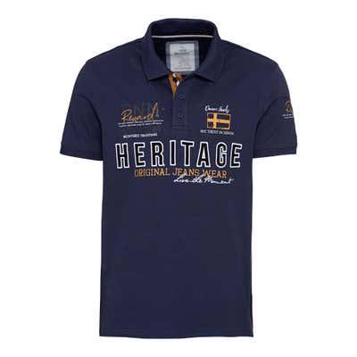 Herren-Poloshirt mit modernem Frontaufdruck