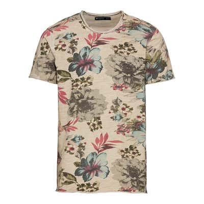 Herren-T-Shirt mit Blumendesign