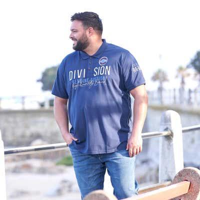 Herren-Poloshirt mit Applikation, großen Größen