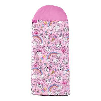 Kinder-Schlafsack im praktischen Tragebeutel, ca. 170/140x70cm