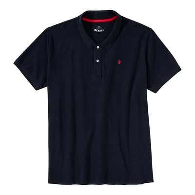 Herren-Poloshirt mit Kontrast-Stickerei, große Größen