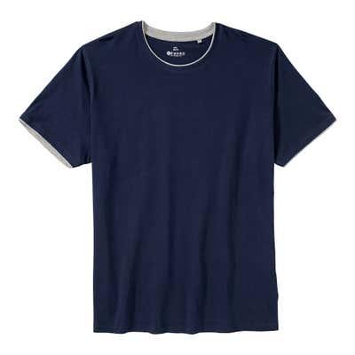 Herren-T-Shirt mit Kontrast-Einsätzen, großen Größen