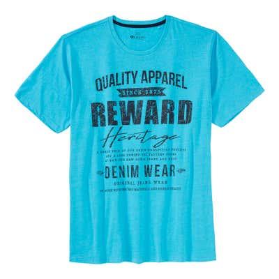 Herren-T-Shirt mit trendigem Frontaufdruck, große Größen