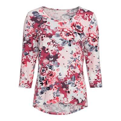 Damen-Shirt mit kreativem Blumenmuster