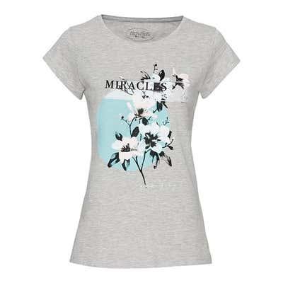Damen-T-Shirt mit modernem Frontaufdruck
