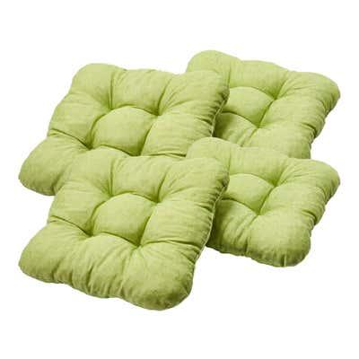 Sitzkissen mit besonders weicher Füllung, ca. 40x40x8cm, 4er Pack