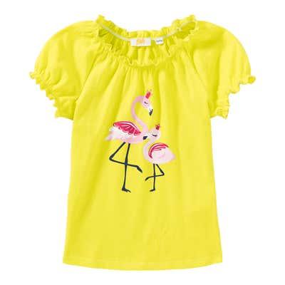 Mädchen-T-Shirt mit Flamingo-Frontaufdruck