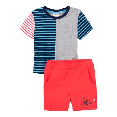 Baby-Jungen-Set mit Streifen-Design, 2-teilig
