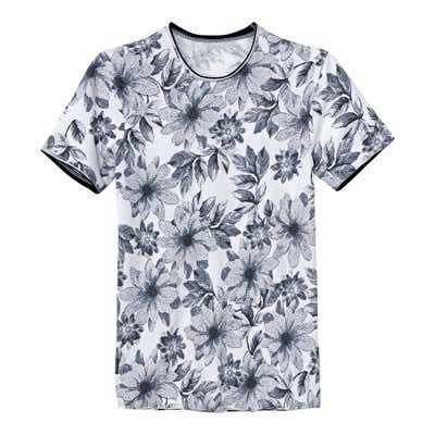Herren-T-Shirt mit coolem Blumenmuster