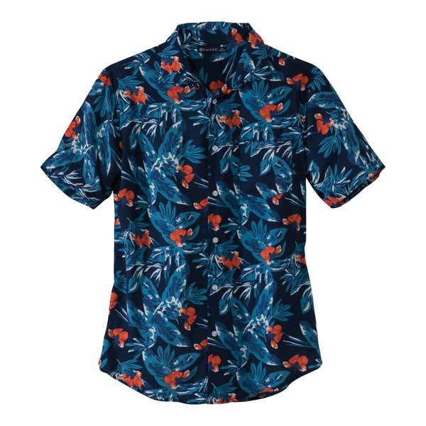 Herren-Hemd im tropischen Design