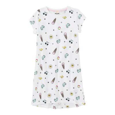 Mädchen-Sleepshirt mit Sommer-Muster