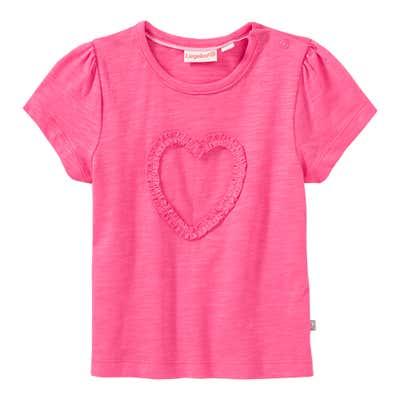 Baby-Mädchen-T-Shirt mit Herz-Applikation