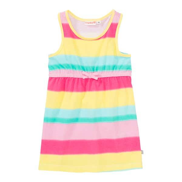 Baby-Mädchen-Kleid mit Streifenmuster