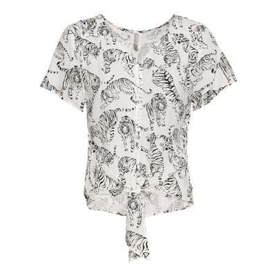 Damen-Bluse mit Tiger-Muster