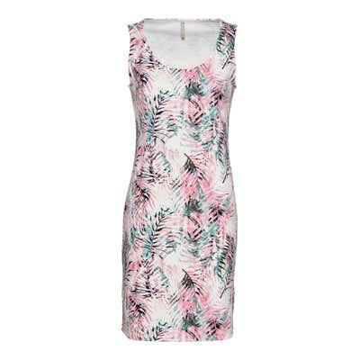 Damen-Kleid mit Struktur-Muster