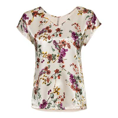 Damen-T-Shirt mit floralem Design