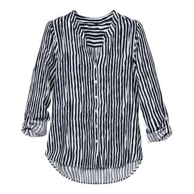 Damen-Bluse mit stylischen Streifen